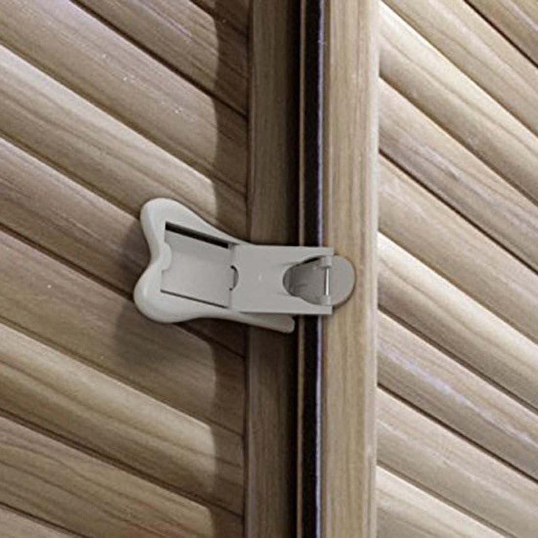 armarios a prueba de beb/és y ventanas de bloqueo paquete de 4 fuerte pero f/ácil de limpiar adhesivo 3M Cerradura de puerta corredera para seguridad infantil no requiere tornillos Sin llave