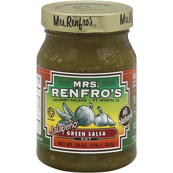Amazon.com : Mrs. Renfros Hot Jalapeno Green Salsa, 16 Ounce ...
