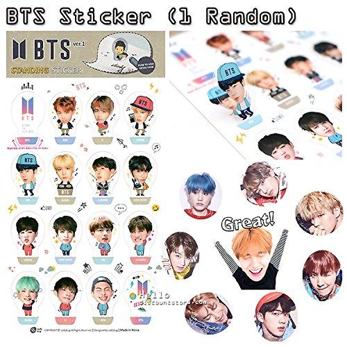 BTS Bangtan Boys Assorted Gift Set Memo Notebook Sticker Pen : 4pcs (Random)