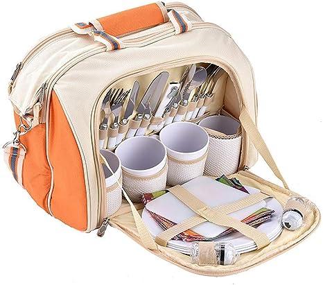 Bolsa de pícnic para 4 personas, incluye 29 bolsas de ...