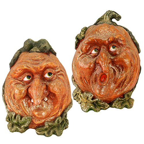 Pumpkin Patch Jack-O-Lantern Garden Statue: Scamp - Pumpkin Decorations
