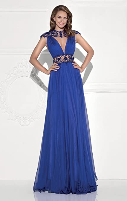 Amazon.com: Top-Sexy Evening Dress Royal Blue Beaded Cutout Gown Sexy Victorian Corset Dresses: Clothing