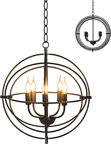 Tangkula 5 Light Pendant Light