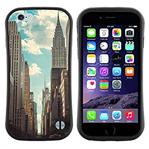 """Hypernova Slim Fit Dual Barniz Protector Caso Case Funda Para Apple (4.7 inches!!!) iPhone 6 / 6S (4.7 INCH) [Empire State Building de Nueva York Nyc""""]"""