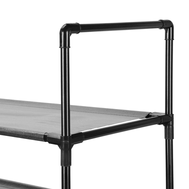 Black 30 Pairs Shoe Tower Organizer Cabinet SortWise /® 6-Tier Shoe Rack Organizer Entryway Stackable Storage Shelf Unit
