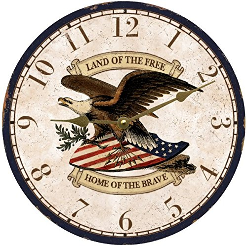 Patriotic Wall Clock  - cool patriotic wall clocks - Patriotic wall art