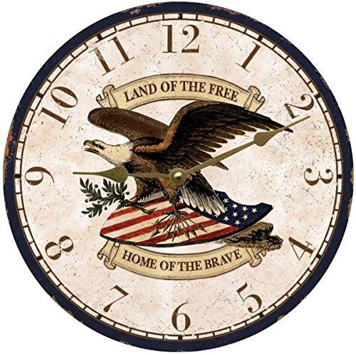 Patriotic Wall Clock - cool patriotic wall clocks - Patriotic wall art