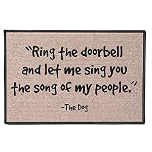 Lionkin8 Timbre con texto en inglés «The Doorbell And Let Me Sing The Song Of My People - The Dog