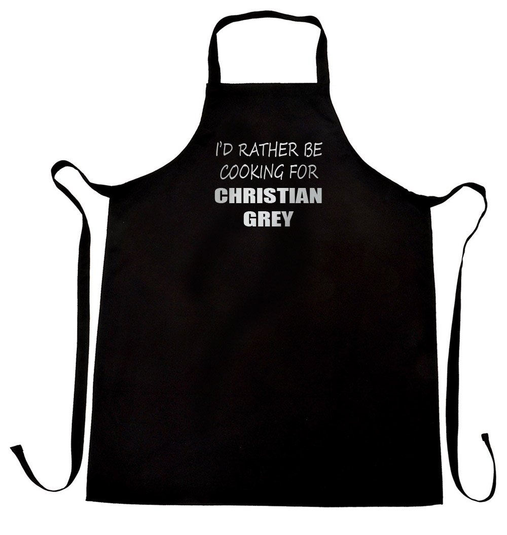I'd rather be cooking for Christian Grey apron, free worldwide shipping