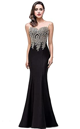 FashionLee Womens Formal Long Cocktail Evening Mermaid Prom Dress Maxi Dress for Party