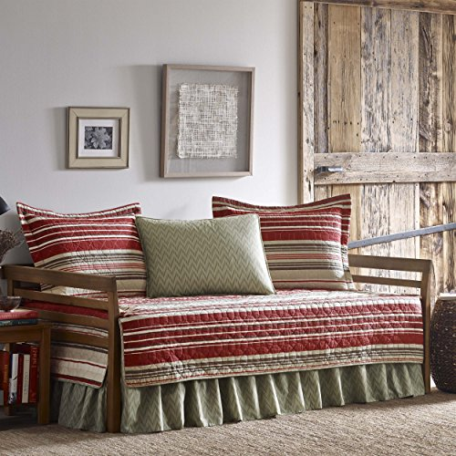 Eddie Bauer Yakima Valley Stripe Daybed Set, Twin, Dark Red