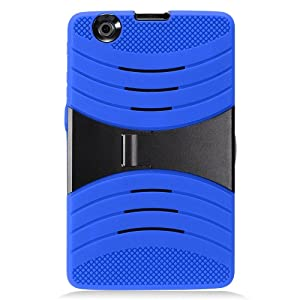 LG G Pad X 8.0 Case, IECUMIE WAVE Skin Protective Cover Case w/ Built-in Kick Stand for LG G Pad X, 8.0 - Blue (Package Include an IECUMIE Stylus Pen)
