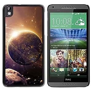 YiPhone /// Prima de resorte delgada de la cubierta del caso de Shell Armor - Space Planet Galaxy Stars 27 - HTC DESIRE 816