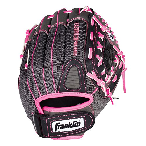 Franklin Sports Softball Glove - Left and Right Handed Softball Fielding Glove - Windmill Fastpitch Pro Series - Adult and Youth Fielding Glove - 12 Inch Right Hand Throw - Pink