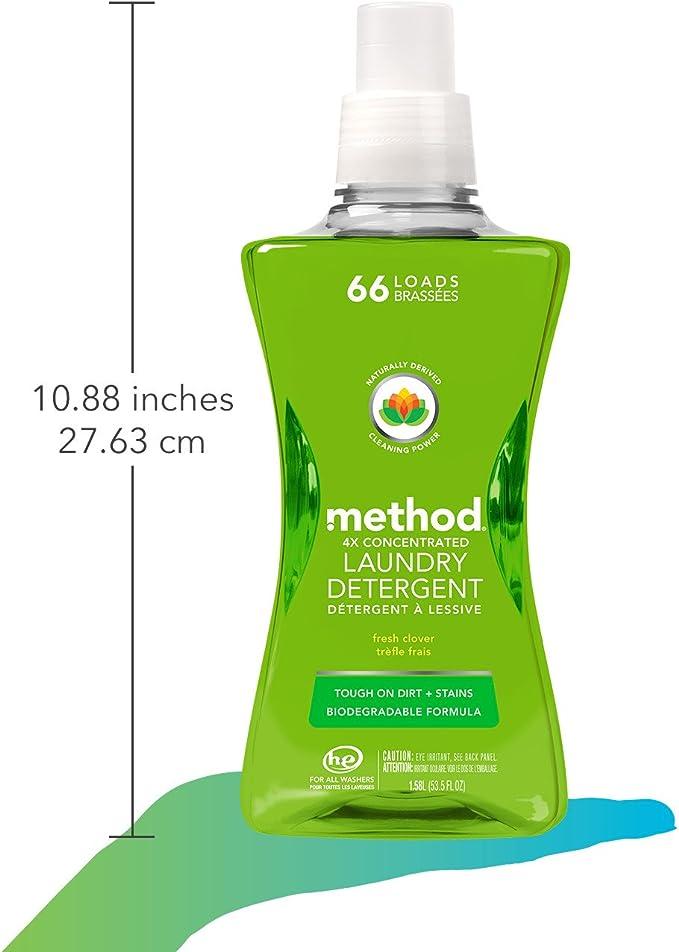Method - detergente del lavadero 4 x concentrado fresco trébol 66 ...