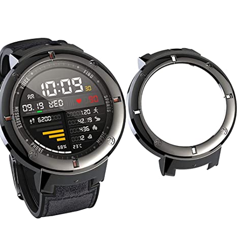 SIKAI Protector Case Funda Compatible con Amazfit Verge 3 Smartwatch Moda Slim Colorido Marco Caso Cubierta Proteger Shell para Amazfit Reloj ...