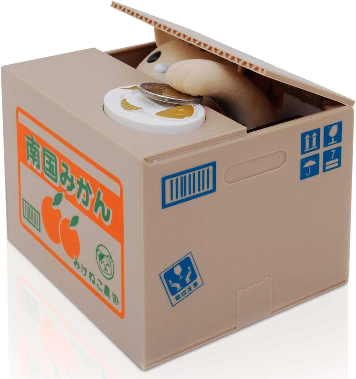 Münzen-Spardose: Katze in der Kiste 1