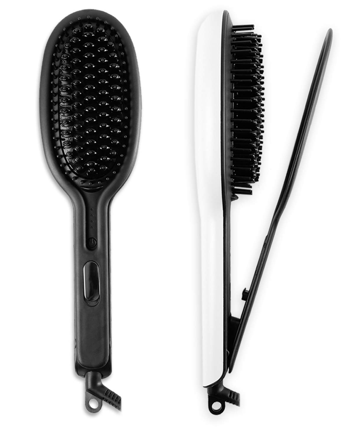 Ceramic Straightener Brush Straightening Hair – Electric Hot Comb With Double Negative Flat Irons,Anti Static,Anti-scald Faster Heated MCH Technology,Auto Shut Off Temperature Lock Functionz