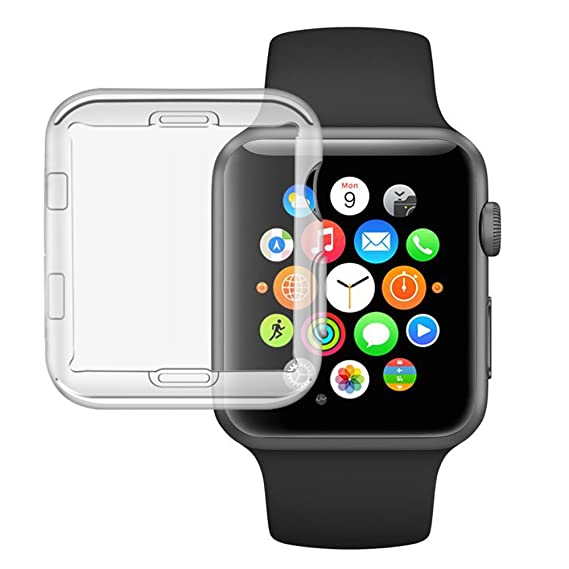 the latest f98d3 3a9fb Etmury Apple Watch Series 3 Screen Protector/Case HD Clear Ultra-thin Cover  for New iPhone Watch/ iWatch Series 3 38mm (Clear, Paper Case)