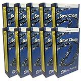Set Of 10 Husqvarna OEM 28'' Chisel Skip Tooth Chain H47SX-93 93 DL 501842793