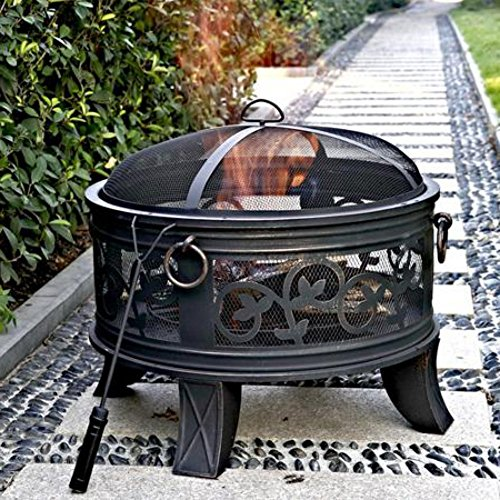 Antique Bronze Steel Dome Fire Pit, 26