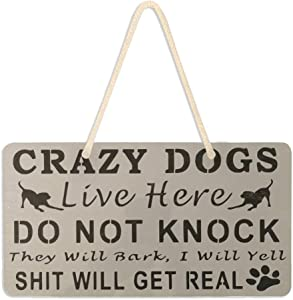 Dog Paw Welcome Door Sign Wall Sign with Hanging String Rustic Wood Decorations For Home Front Door Farmhouse Porch Garden Yard Sign 6