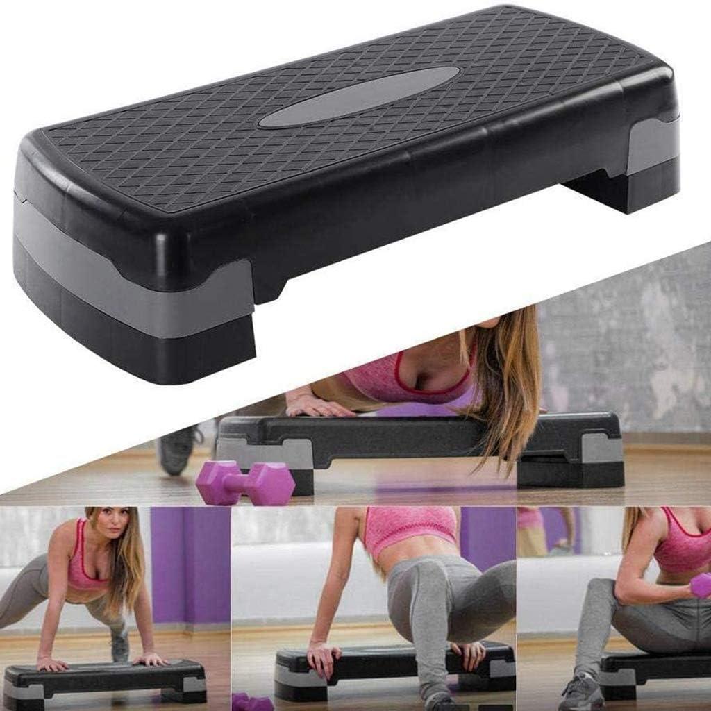 Color : Black HYJBGGH M/áquinas de Step Stepper Fitness Maquina con 2 Niveles De Pasos Ajustables Equipo De Ejercicios Plataforma De Ejercicios para Gimnasio En Casa Cardio Yoga