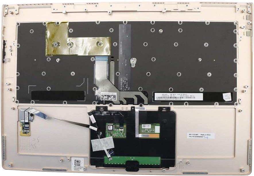 Laptop PalmRest&Keyboard for Lenovo Yoga 910-13IKB United Kingdom UK 5CB0M35012 Upper Case Gold New