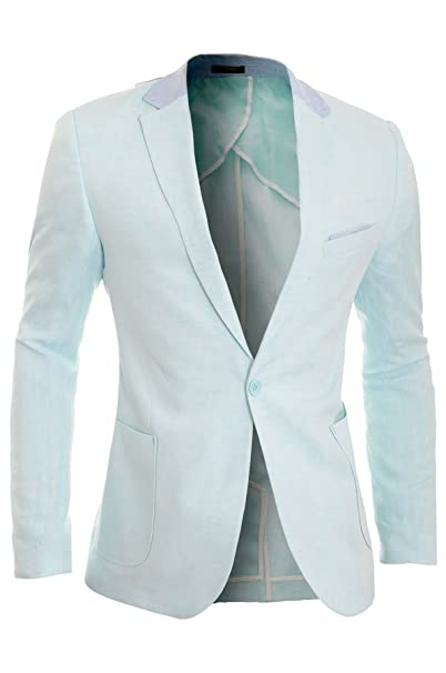 D   R Fashion Cipo   Baxx para hombre chamarra Blazer de lino Casual Formal  codo fc8fa0bfa394