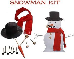 LCASSIEL Snowman Kit, Build Your Snowman, Snowman Decoration Kit, 13pieces Included