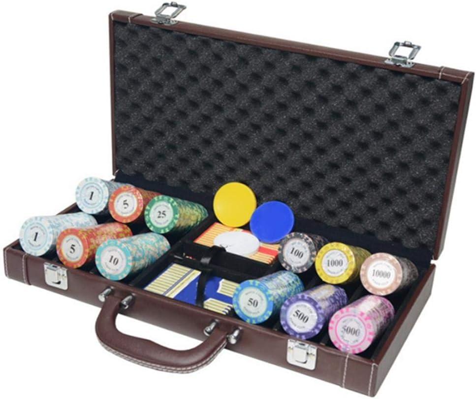 Dequate - Estuche para fichas de Poker, portátil, vacío, con Hebillas de Bloqueo, Estuche para fichas de Piel para Texas Hold Em: Amazon.es: Hogar