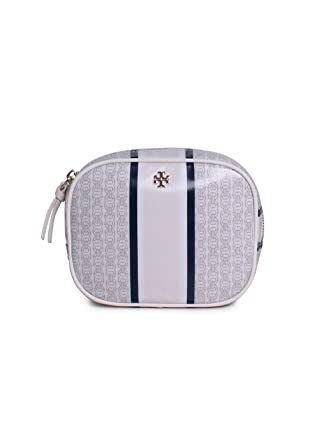 b9efb7cc75a3 Tory Burch Gemini Link Cosmetic Case in New Ivory  Amazon.co.uk  Clothing