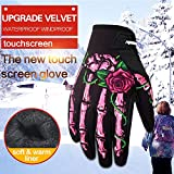 QiancArolBD Winter Warm Gloves Motorcycle Cycling Outdoor Windproof Men's Full Finger (1 Pair)
