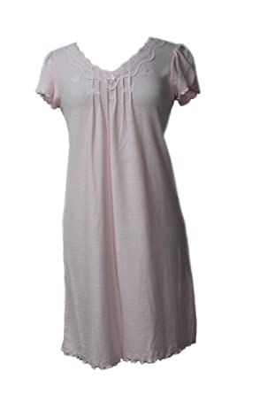 f95c4245ce829 Miss Elaine Pink Pink Waffle Knit Short Gown Nightgown Sleepwear at ...