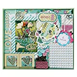 "FaCraft Scrapbook Kit for Teenage Girls (8x8"",Green)"