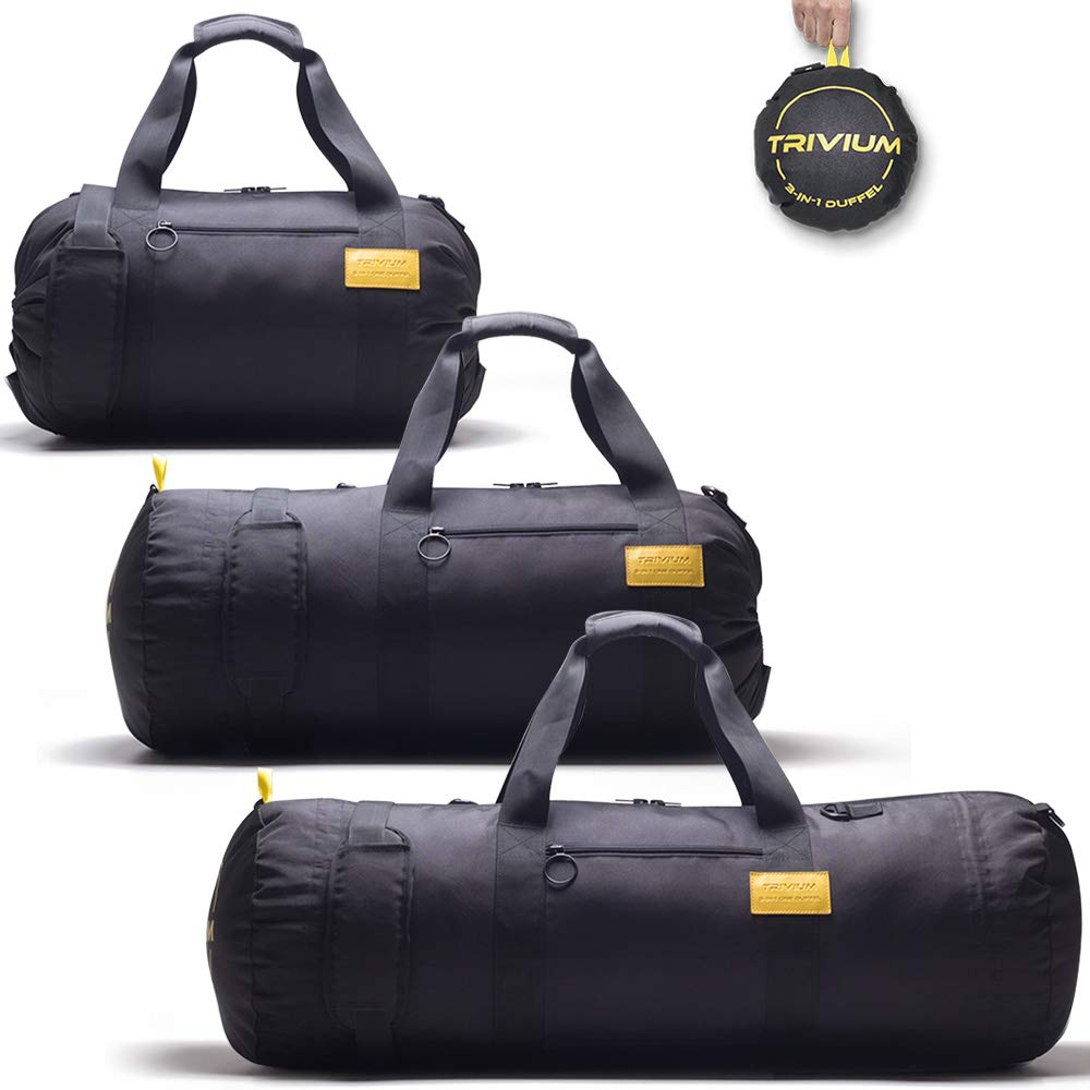 Trivium | 30-60L Packable 3-in-1 Expandable Travel Gym Duffel Sports Bag