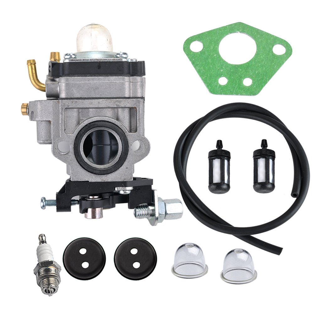 HIPA 300486 Carburetor with Repower Tune-Up Kit for Earthquake E43 E43CE E43WC Auger MC43 MC43E MC43CE MC43ECE MC43RCE Tiller MD43 WE43 WE43E WE43CE Edger by HIPA