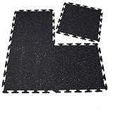 RevTime Interlocking Rubber Floor Mats 20''x20'' for Treadmill Mat Gym Floor Mat Exercise Mat Fitness Floor (Pack of 6)