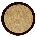 Cheap Acura Rugs Natural Jute Collection Transitional Style Hand Woven Round Area Rug, 8'/96″ W x 96″ L, Brown