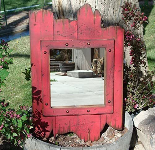 Amazon.com: 34 X 22 Red Barnwood Mirror-Country Western