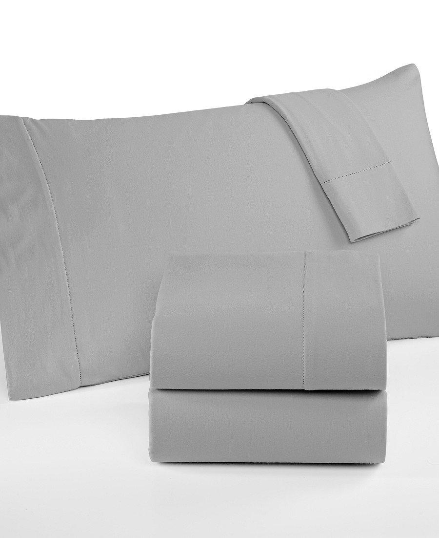 Martha Stewart Collection Luxury Flannel Sheet Set (Queen, Dove Grey)