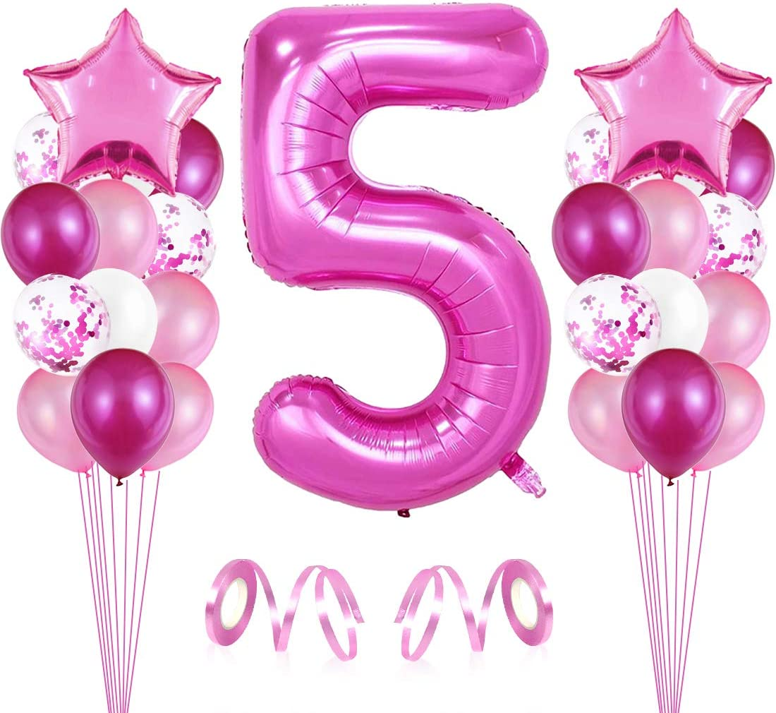 2x Folienballon Zahl 16 rosé Folienzahl Riesenluftballon Geburtstag Zahlenballon