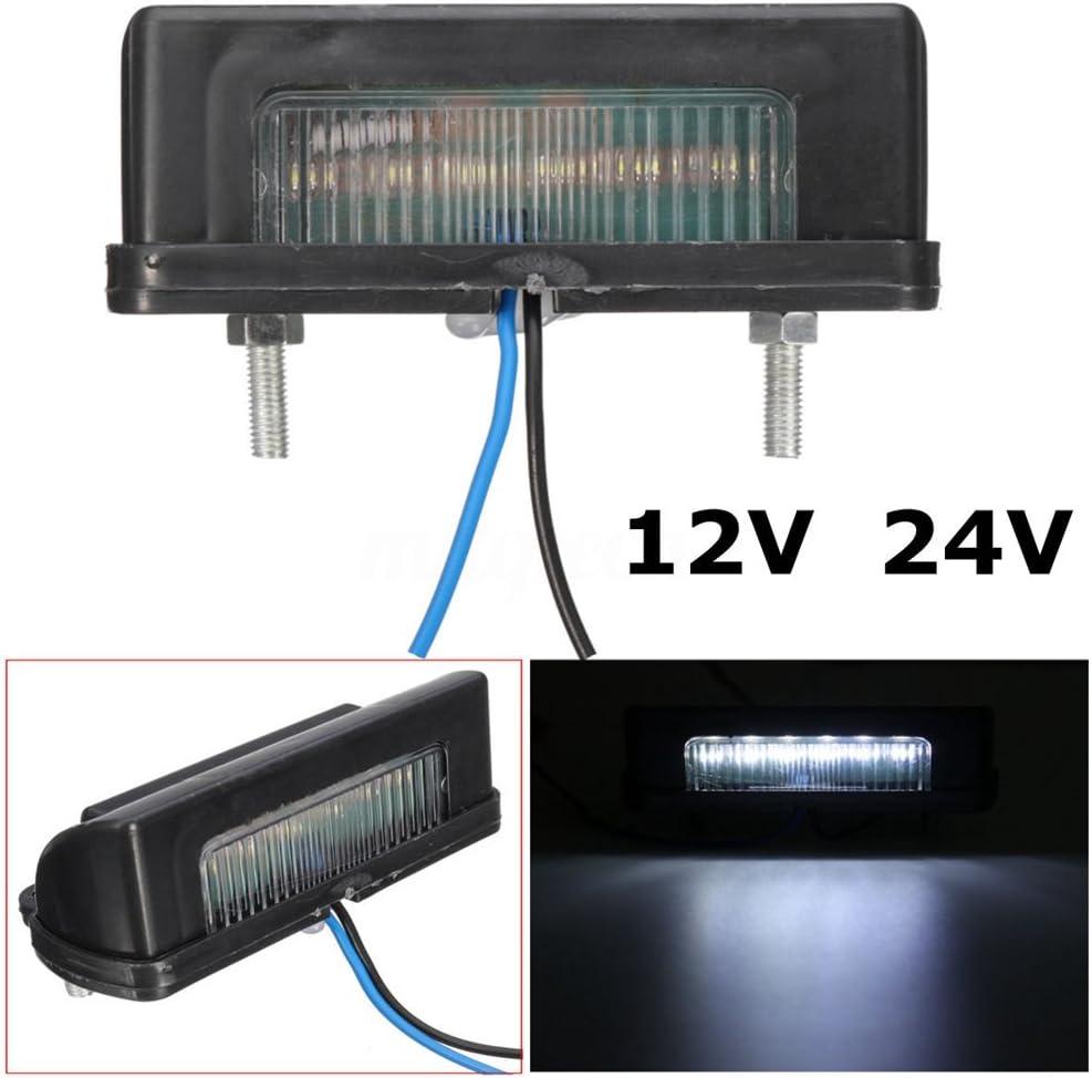 BAAQII 12 24V White LED Kennzeichenbeleuchtung f/ür LKW Van Trailer Lorry