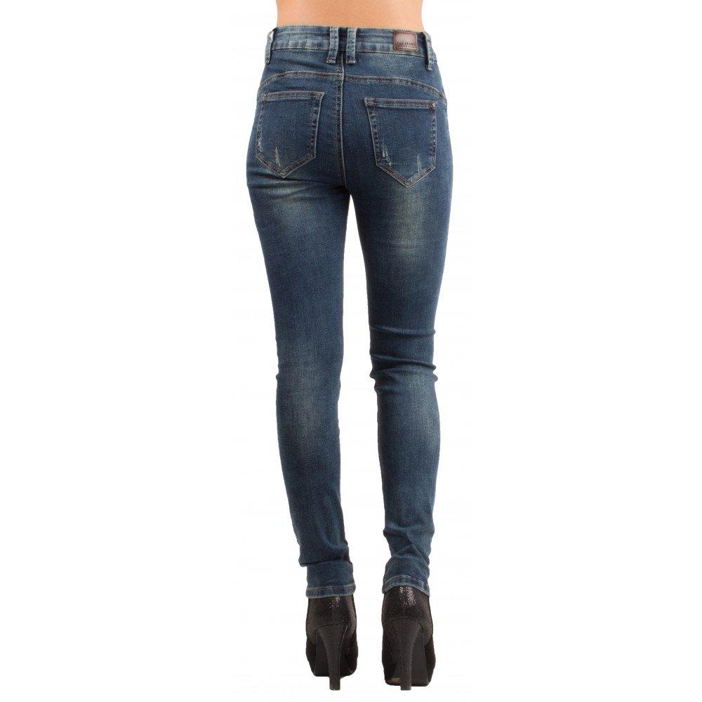 Primtex Jean Slim Femme délavé Effet Sable Taille Haute   Stretch 34-42-38   Amazon.fr  Vêtements et accessoires b4a092a5c51d