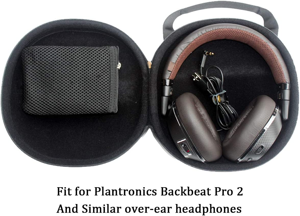 1 CASE ONLY NO Smell Over-Ear Headphone Case Storage Bag Pouch for Plantronics BackBeat PRO 2,Audio-Technica ATH-M50x,Sennheiser HD 4.40 BT