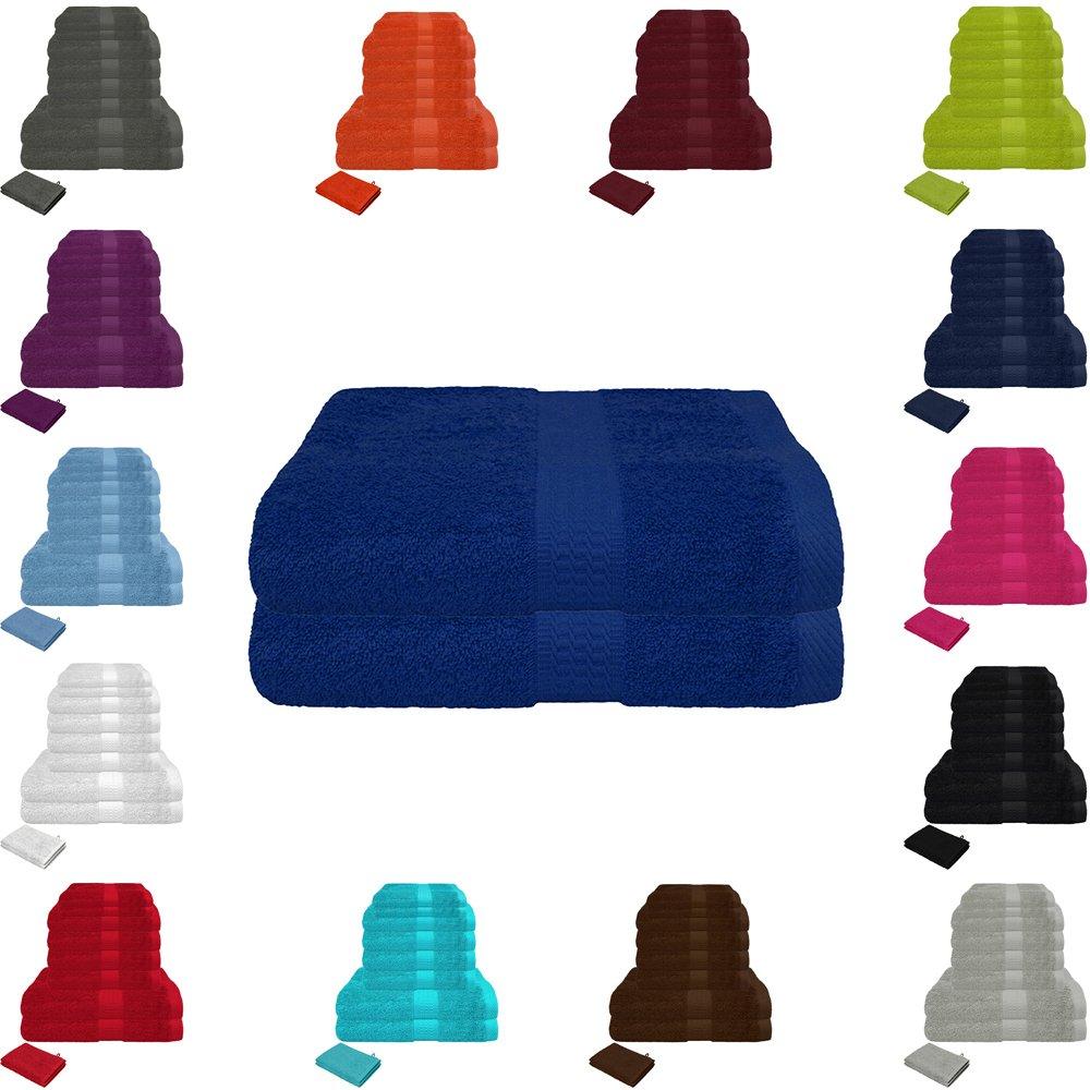 Juego de toallas de mano de rizo, 500g/m², disponibleen muchos tamaños y colores, juego de 10 unidades, 100% algodón, algodón, antracita, 10er Handtuch-Sparpack Falco