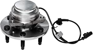 TUCAREST 515097 Front Wheel Bearing and Hub Assembly Compatible With Cadillac Escalade ESV Chevy Avalanche Silverado Suburban 1500 Tahoe GMC Sierra Yukon XL [RWD Only;6-Stud Hub W/ABS]
