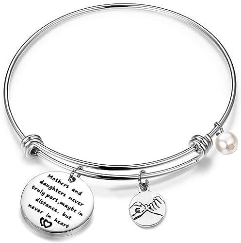KIKISHOPQ Inlaid gems custom name bracelet moms and girls best gift