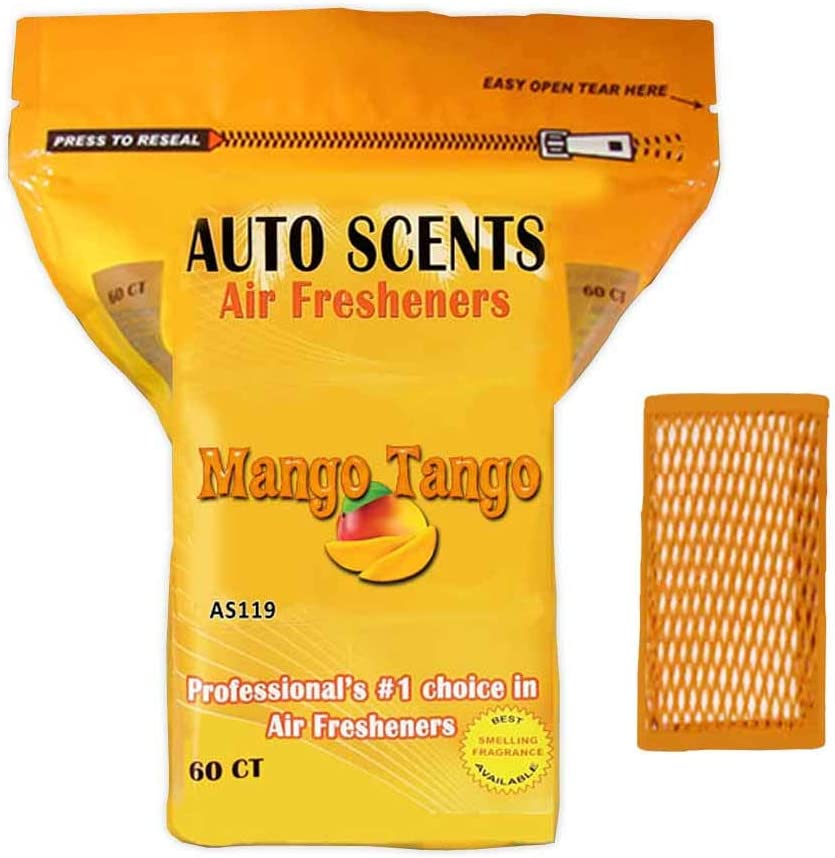 Mango Tango Scent Professional Air Freshener Pads - Remove The Worst Smells with These Heavy Duty Pads (60 Pads Per Pack) (Mango Tango Scent)