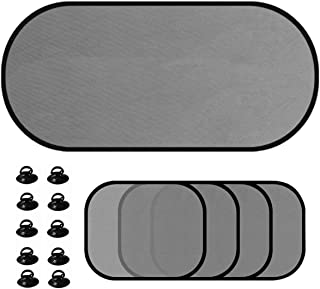 DoMoment 5pcs/set Car Window Sunshade Mesh Auto Sun Visor Curtain With Suction Cup Front Rear Side Curtain Car Styling Covers Sunshade